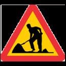 Varningsmärke, vägarbete