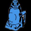 Domkraft, hydraulisk 12 ton
